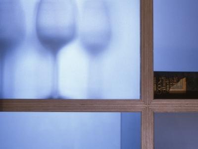 Doorzon detail | berkenmultiplex, glas |  ruimtedeler | maten variabel