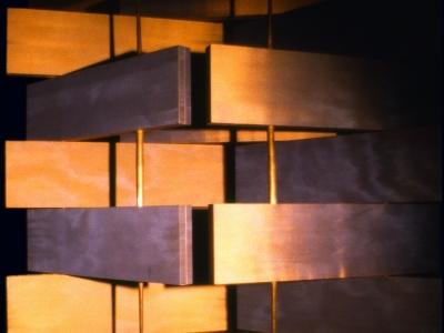 Scherm | hout, changeant | ruimtedeler | maat hier 210 x 300 cm maar variabel in hoogte en breedte